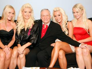 Hugh Hefner and his play mates
